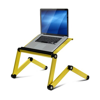 Rebrilliant Judd Vented Laptop Table / Portable Bed Tray Book Stand Color: Gold