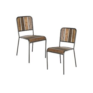 Williston Forge Desmarais Solid Wood Dining Chair (Set of 2)