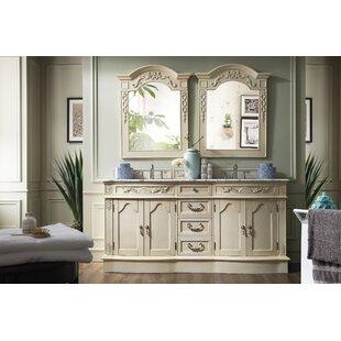 Blue Hills 72 Double Bathroom Vanity Set by Fleur De Lis Living