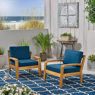 Sondra Patio Chair with Cushions (Set of 2)