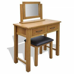 Arwood Dressing Table Set With Mirror By Bloomsbury Market