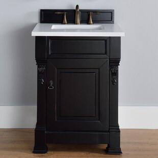 Bedrock 26 Single Antique Black Bathroom Vanity Set by Darby Home Co