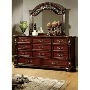 Glynda 11 Drawer Dresser with Mirror