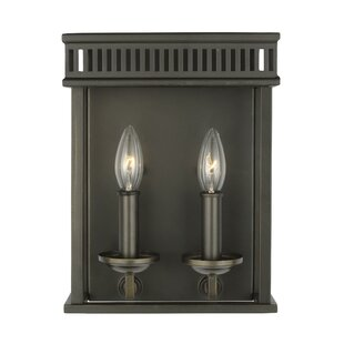 Gracie Oaks Castanon 2-Light Outdoor Sconce