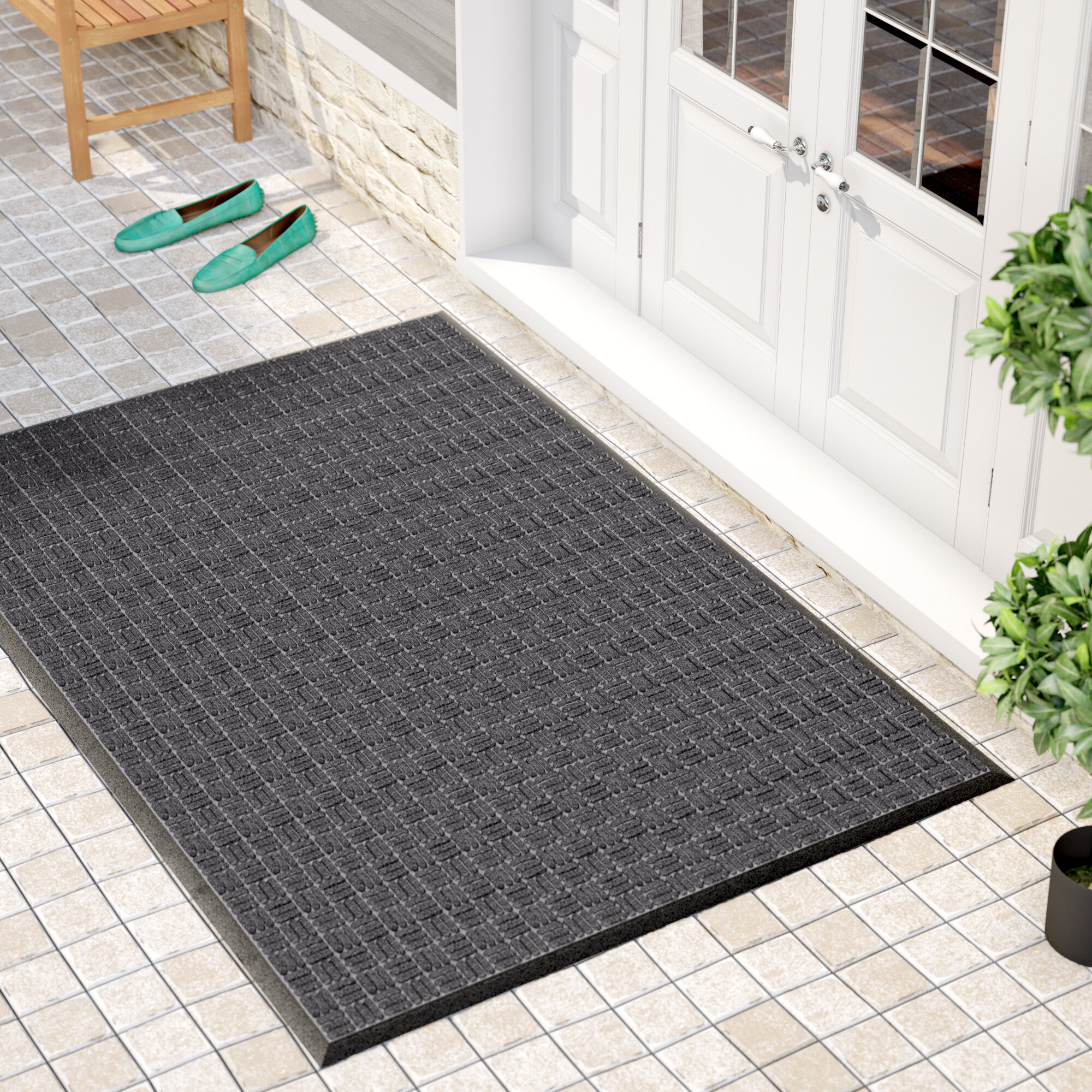 Red Barrel Studio Cobham Water Retainer Rubber Doormat Doormat U0026 Reviews |  Wayfair