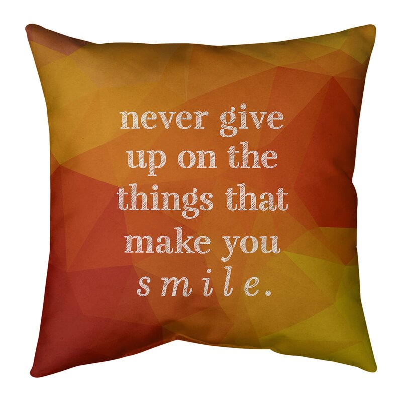 East Urban Home Faux Gemstone Joy And Perseverance Quote Suede Pillow Wayfair