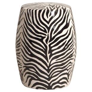 Zebra Garden Stool by Emissary Home and Garden