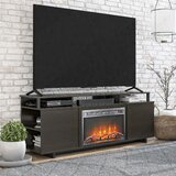 Chet TV Stand for TVs up to 65 with Fireplace Included by Ebern Designs