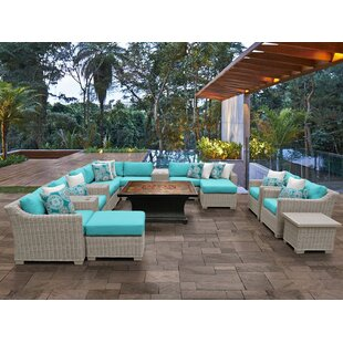 Coast 17 Piece Sectional Seating Group with Cushions