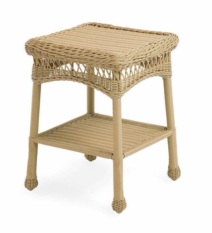 Easy Care Resin Wicker Side Table
