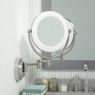Three Posts Hansa Glam Surround Light Makeup Wall Mirror