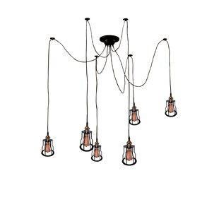 Warehouse of Tiffany 6-Light Cluster Pendant