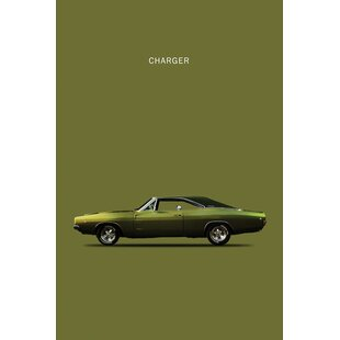 'Dodge Charger' Graphic Art Print on anvas By East Urban Home