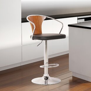 Gregor Adjustable Height Swivel Bar Stool George Oliver