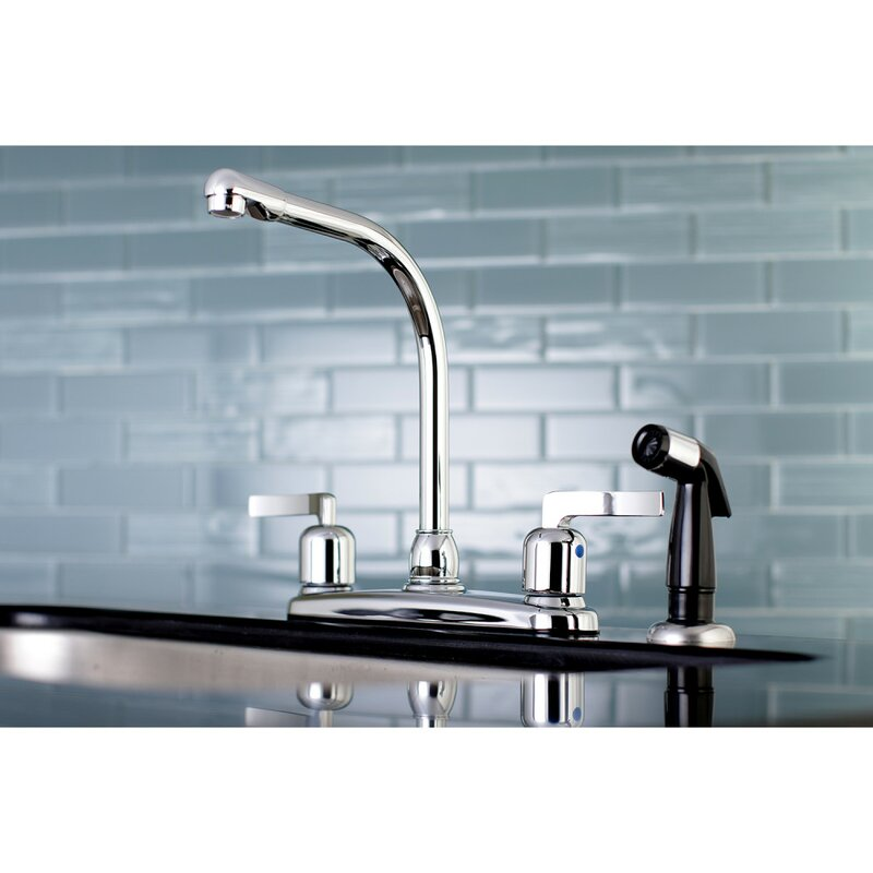 Kingston Brass Centurion Hot Cold Water Dispenser Double Handle Kitchen Faucet With Side Spray Wayfair