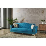 Velvet 91.7 Round Arm Sofa by ByAngel