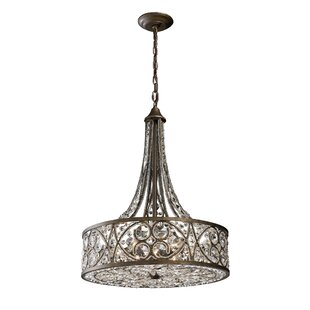 Lark Manor Manigault 6-Light Crystal Chandelier