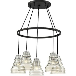 Wrought Studio Theriot 5-Light Shaded Chandelier