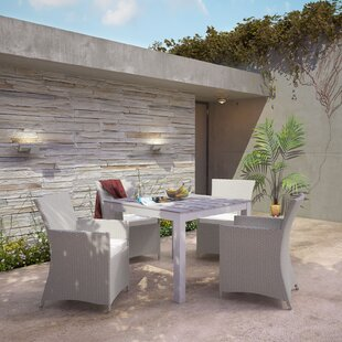 Bletchley Outdoor Patio 5 Piece Dining Set With Cushions by Brayden Studio Spacial Price