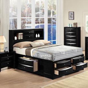 12 Drawer Queen Storage Bed Wayfair