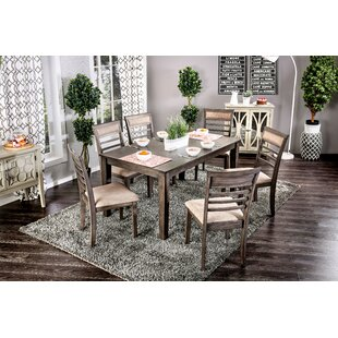 Daniel 7 Piece Dining Set Red Barrel Studio