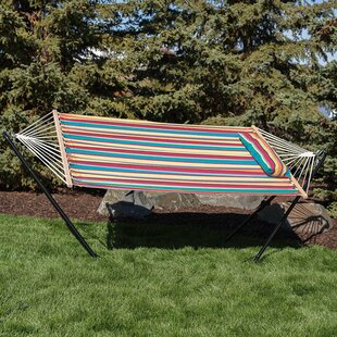 Bay Isle Home Sisler Cotton Fabric Hammock with Stand
