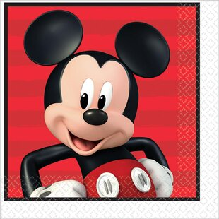 Mickey on the Go Paper Disposable Lunch Napkin (Set of 16)