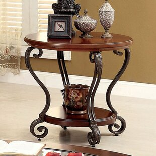 Coulombe End Table by Fleur De Lis Living