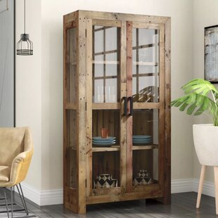 Mistana Abbey Solid Curio Flat Back Cabinet