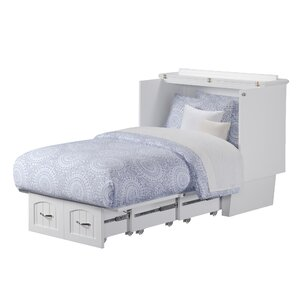 Charles Twin Storage Murphy Bed with Mattress