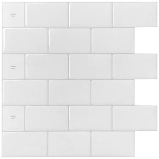 12 inch  x 12 inch  PVC Peel & Stick Mosaic Tile in White
