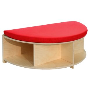 Read-A-Round Half Circle Wood Storage Bench by Wood Designs