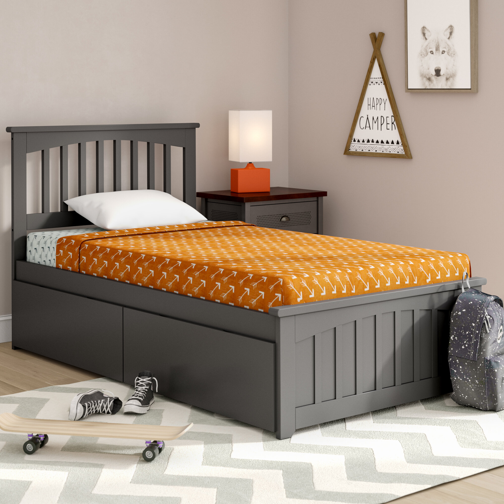 Viv Rae Piper Twin Platform Bed With Drawers Wayfair