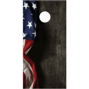 Lightning Cornhole Hanging American Flag Cornhole Board