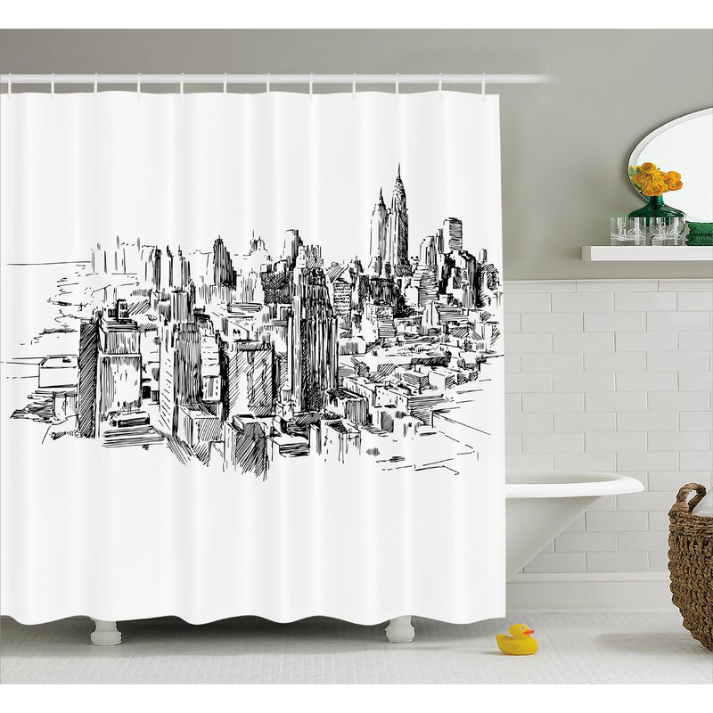 Berard NYC Historical Sketch Shower Curtain