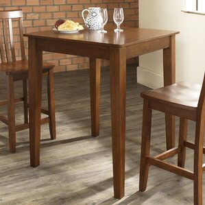 pittman 3 piece pub table set with tapered leg table and barstools - Bistro Table Sets