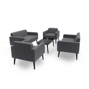Stein Outdoor 5 Piece Sofa Seating Group with Cushions