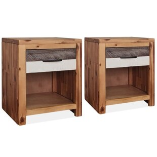 Kaiser 1 Drawer Bedside Table (Set Of 2) By Union Rustic