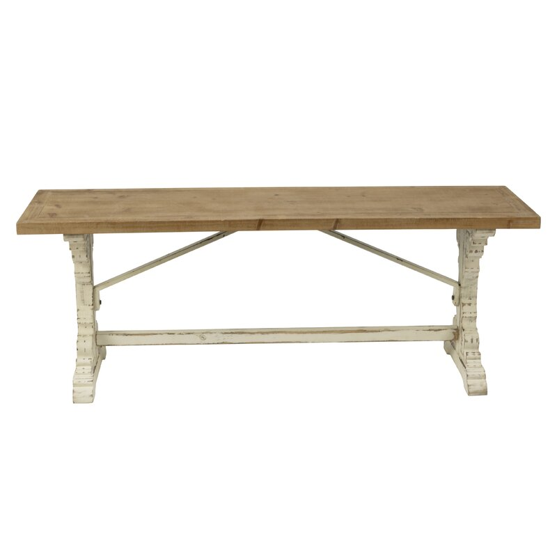 Wight Farmhouse Style Wood Bench
