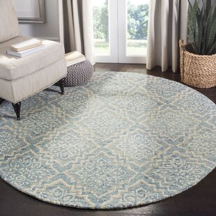 Salerna Hand-Tufted Wool Blue/Gray Area Rug by Ophelia & Co.