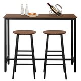Chikezie 3 - Piece Counter Height Dining Set by Latitude Run®