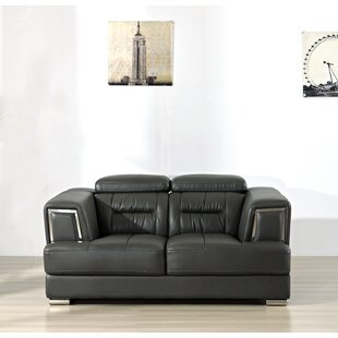 Fairbourne 2 Piece Leather Sofa Set By Ebern Designs