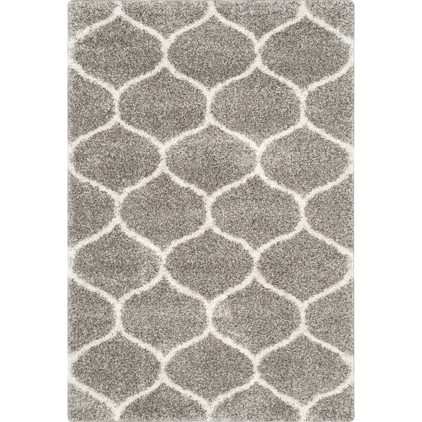Wrought Studio Elizabeth Street Gray/Ivory Area Rug U0026 Reviews | Wayfair
