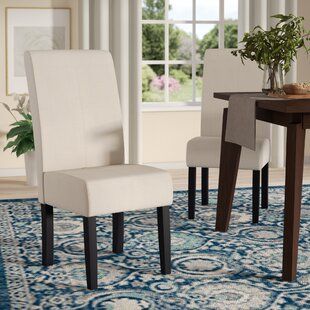 Merrin T-Stitch Upholstered Dining Chair (Set of 2) Andover Mills