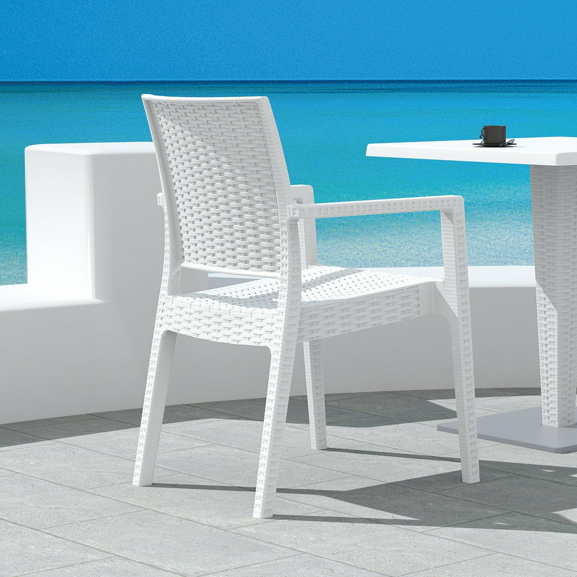 Brayden Studio Kesler Stacking Plastic Resin Patio Dining Armchair Reviews Wayfair