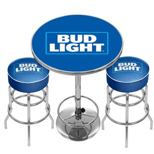 Trademark Global Ultimate Bud Light Game Room 3 Piece Pub Table Set