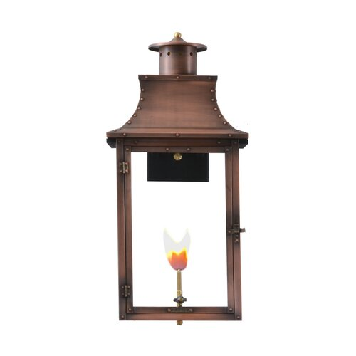 Longshore Tides Gravette Aged Copper 3 Bulb 27 H Outdoor Hanging Lantern Wayfair