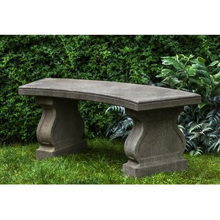 Zimelman Cast Stone Garden Bench by Astoria Grand Fresh