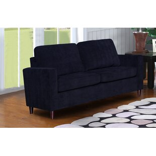 Anglin Raisin Fabric Modern Living Room Loveseat by Wrought Studio