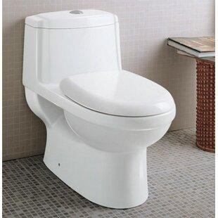 EAGO Ceramic Dual Flush Elongated One-Pie..